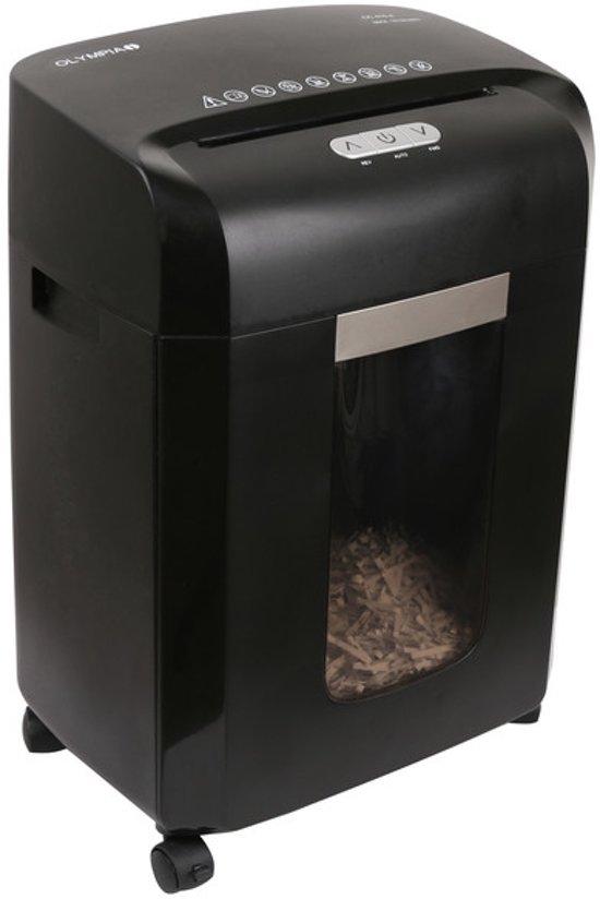 Olympia CC 415.4 papiervernietiger Kruisversnippering 22 cm 65 dB Zwart