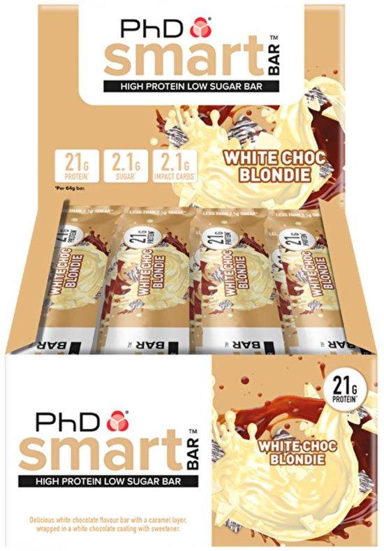 PhD - Smart Bar - White Choc Blondie (12x64g)