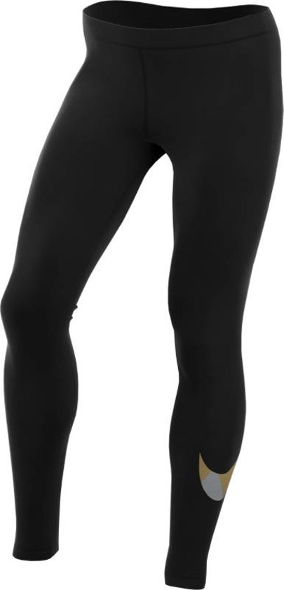 Nike Flash Essential  Sportbroek - Maat XS  - Vrouwen - zwart/grijs/goud