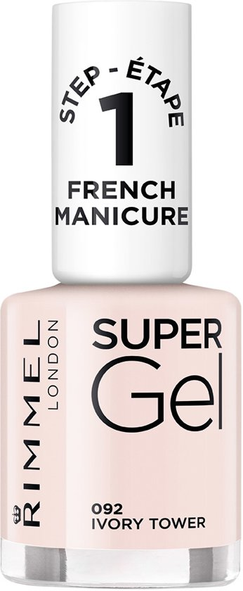 Rimmel London Super Gel French Manicure Gel Nagellak -  Ivory Tower
