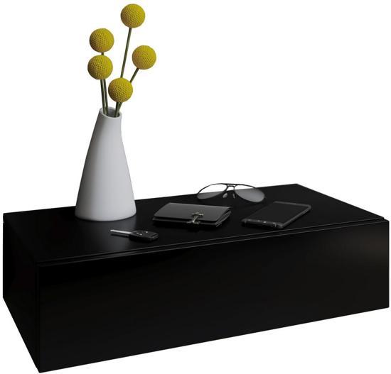 Ikea Nachtkastje Zwart.Zwevend Nachtkasje Halkastje Blado Maxi Zwart