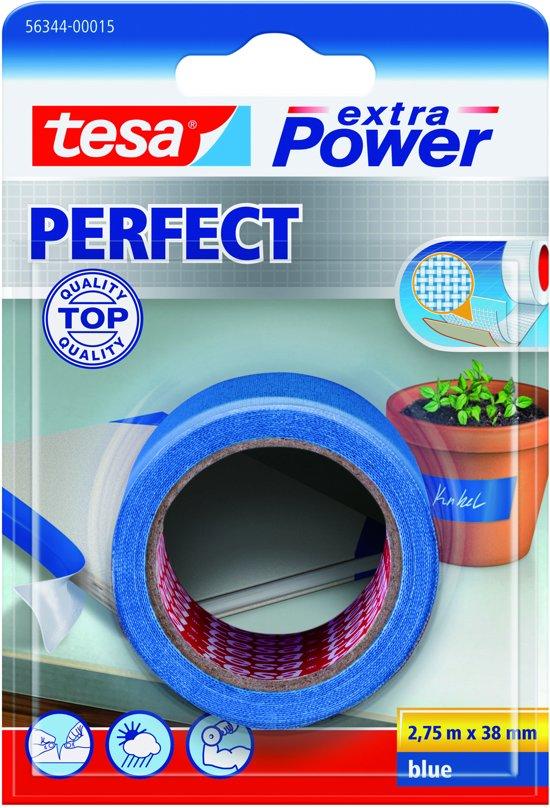 Tesa Extra Power Perfect Tape - Blauw - 2,75 m x 38 mm