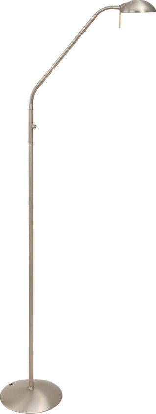 Steinhauer Mexlite - Vloerlamp - LED - Staal - Reflector
