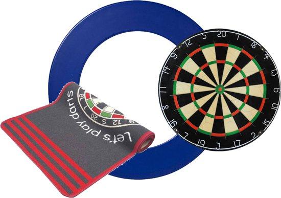 Dragon darts a-merk bristle dartbord - Dartbord surround - Dartmat Antracite - dartbord - dartmat - surround blauw