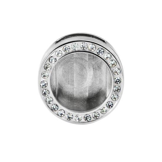 Quiges - RVS Mini Munt Button zilverkleurig voor Armband - ECO019