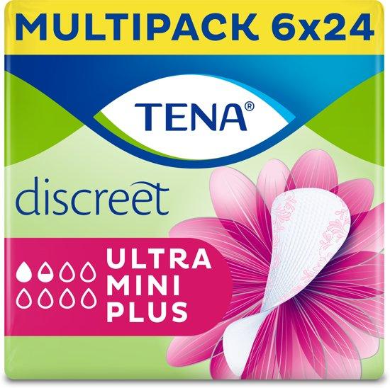 TENA Discreet Ultra Mini Plus inlegkruisjes - 6 x 24 stuks - voor urineverlies (incontinentie)