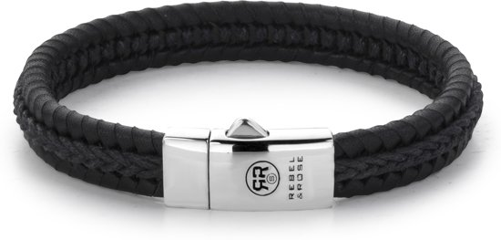 Rebel&Rose armband - Dual Twisted Black