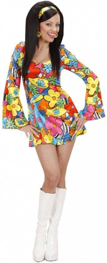 Hippie jurkje met bloemen 38 (m)