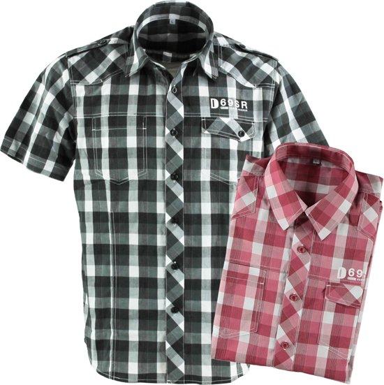 Overhemd Zwart Korte Mouw.Bol Com Heren Blouse Overhemden Korte Mouw Zwart Wit Maat L