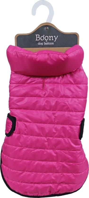 Hondenjas quilted nylon roze, 35 cm.