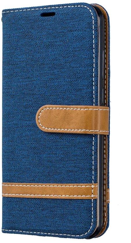 Huawei Y6 (2019) Hoesje - Denim Book Case - Blauw