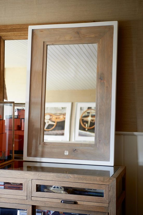rivi ra maison beach house mirror spiegel 80 x 120 cm bruin wit. Black Bedroom Furniture Sets. Home Design Ideas