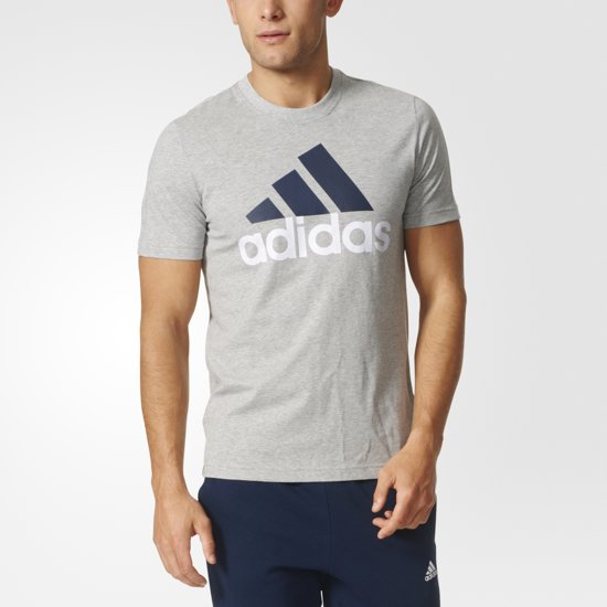 huge selection of 42a47 93535 adidas Essentials Linear Tee - Sportshirt - Heren - M - Medium Grey Heather