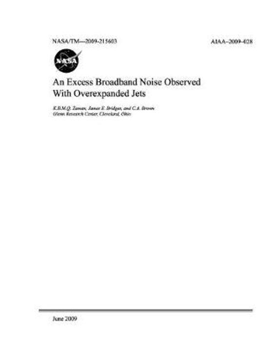 An Excess Broadband Noise Observed with Overexpanded Jets