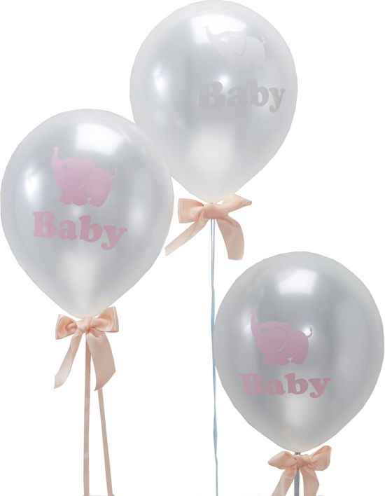 Ginger Ray Little One 'Baby' ballon Ø 22 cm - transparant - Set-10 Valentinaa