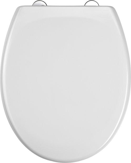 EISL WC-Bril ED69310 - Thermoplastiek - Soft Close - Afklikbaar - RVS-Scharnieren - Gelakt - Wit