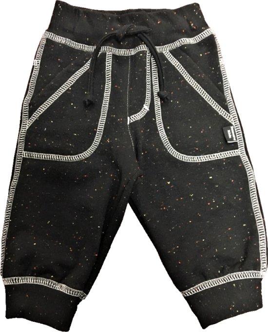 Damara Kids broek zwart met spikkels