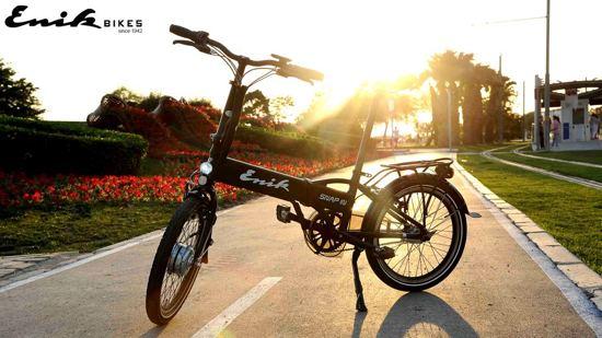 Enik-Bikes Snap-in Zwart Electrische vouwfiets