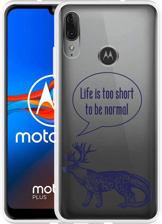 Motorola Moto E6 Plus Hoesje Life is too Short