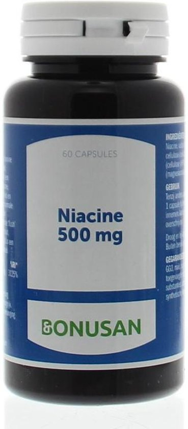 Bonusan Niacine 500MG - 60 Capsules - Vitaminen
