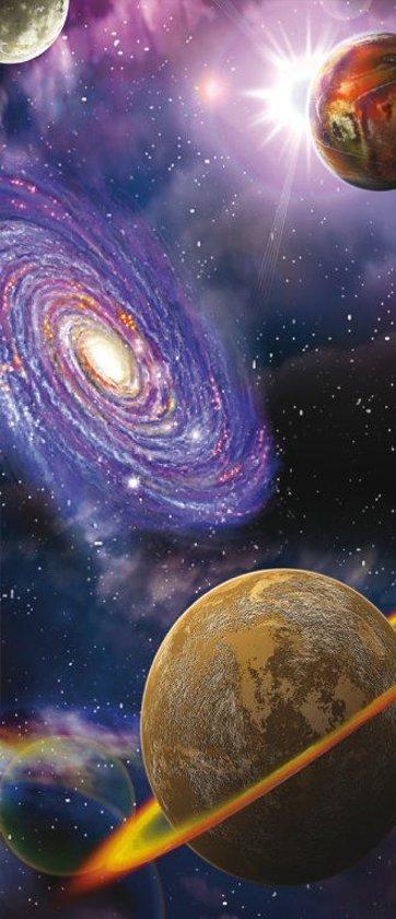 Planeten  - Fotobehang 91 x 211 cm