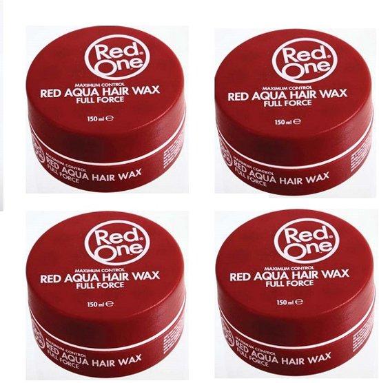 4x RedOne haarwax rood 150ml