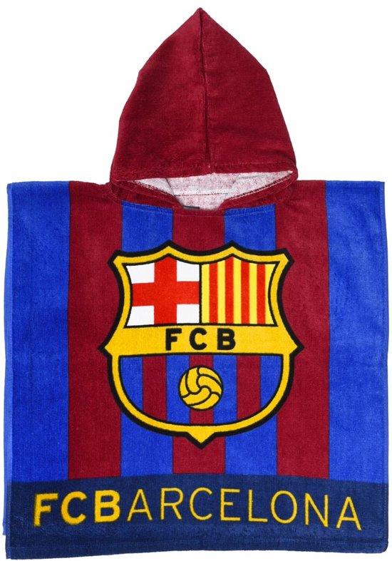 Fc Barcelona Badponcho Logo 60 X 120 Cm Blauw/rood