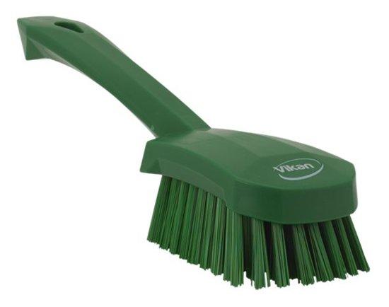 Harde afwasborstel met korte steel - Groen