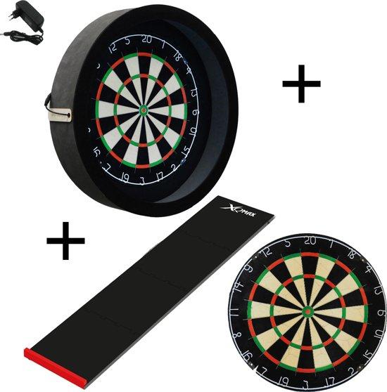 Dragon darts - Sorpresa PRO set - Zwart - dartbord - dartmat - dartbord verlichting