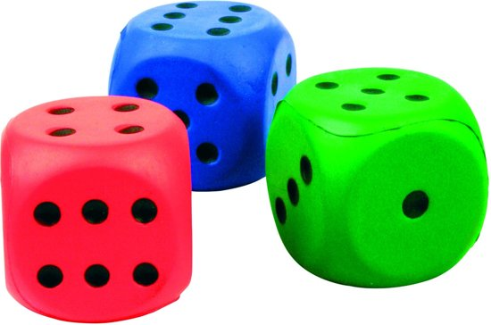 Afbeelding van het spel Tutti Frutti Dobbelstenen Set 3 Stuks 6 Cm