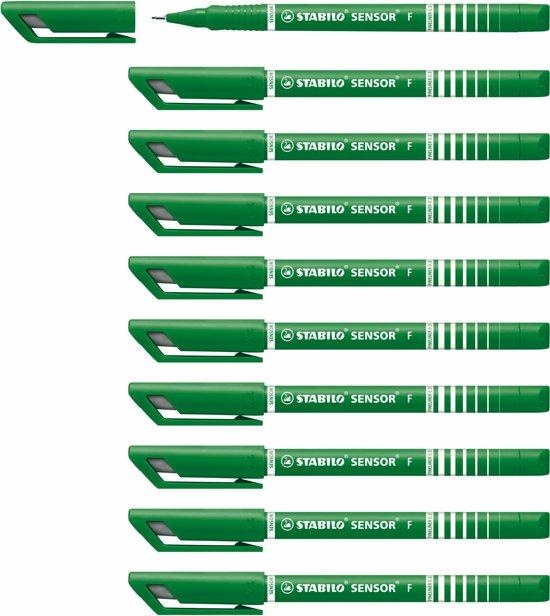 STABILO SENSOR Fineliner 0,3 mm Groen - Doos 10 stuks