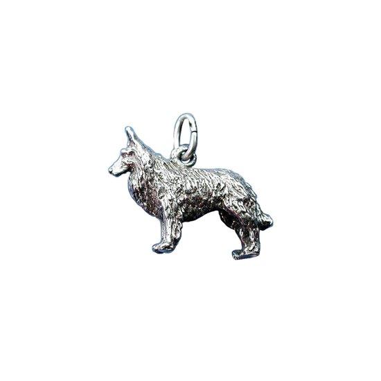 Zilveren Tervuerense herder COOLDOG™ ketting Hanger Hond .925