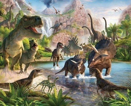 9200000026108797 - Dinosaurus Behang