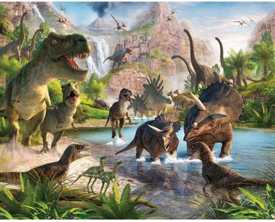Walltastic Dinosaur Land - XXL Posterbehang - 305 x 244 cm - dinosaurus behang