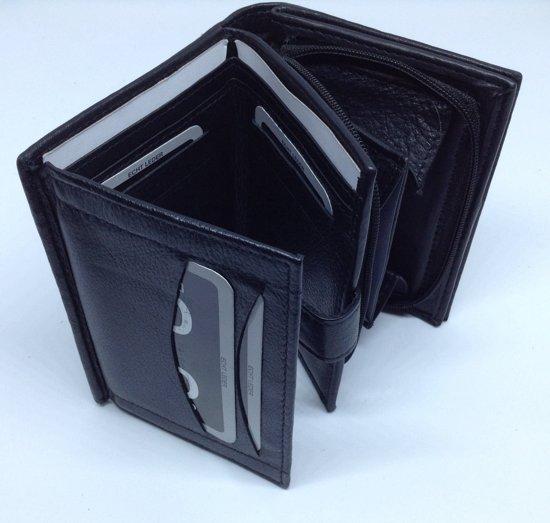 2262b4a4780 bol.com | Zwarte heren portemonnee met drukknop en rits - Double-D