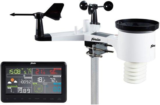 Alecto WS-5500 Professioneel weerstation   Wifi weerstation met Weather Underground koppeling   Zwart