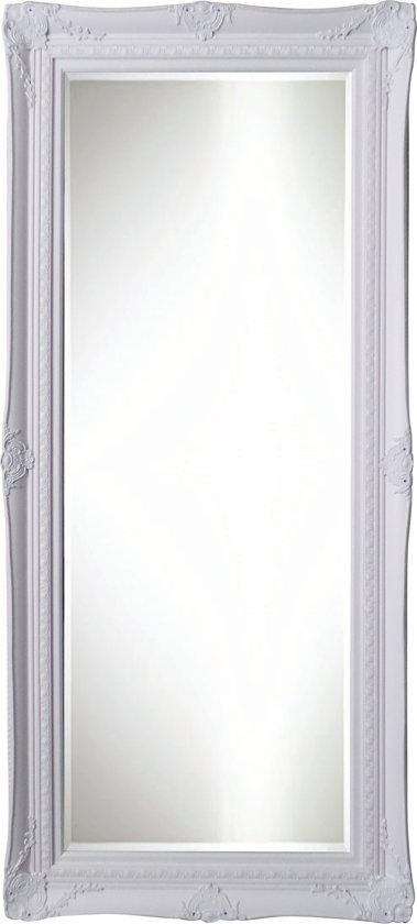 Qweens - Spiegel - Sara- wit - buitenmaten breed 84 cm x hoog 114 cm.
