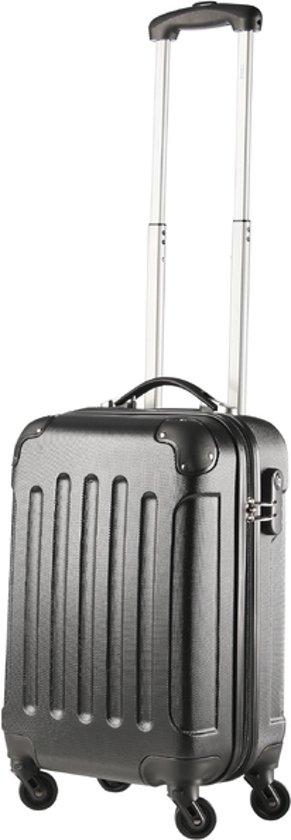 Travelz handbagage koffer - 53 cm - Afneembare wielen - ABS - Zwart