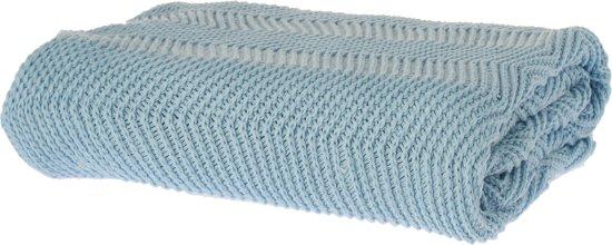 Riverdale Zigzag - Plaid - 150x180 cm - lichtblauw