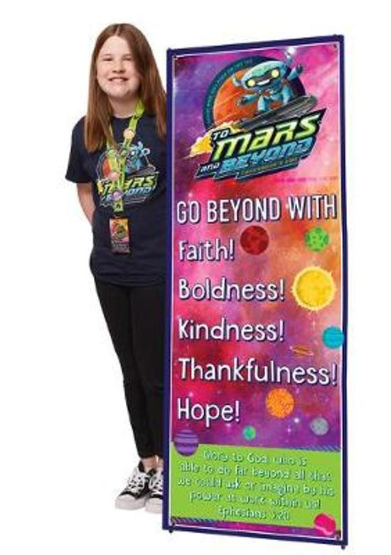 Vacation Bible School (Vbs) 2019 to Mars and Beyond Theme Banner