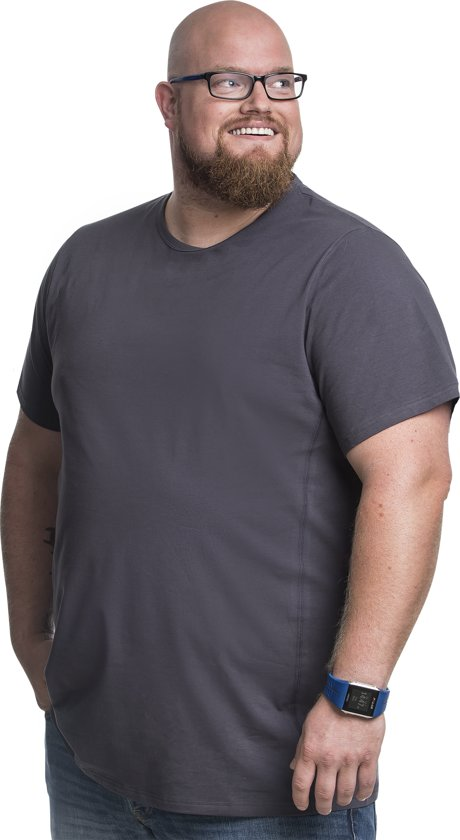 hoge kwaliteit fabriek website voor korting 3XL 2pack T-shirt heren ronde hals grijs   Buikmaat 3XL-B   grote maten  tshirt   XXXL