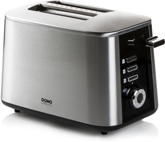 Domo DO972T - Broodrooster - 2 sleuven - Fast-toaster technologie - RVS