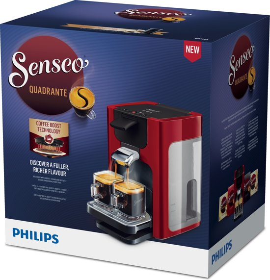 Philips Senseo Quadrante HD7865/80 Rood