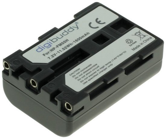 Digibuddy A Merk Accu Batterij Sony NP-FM55H / NP-FM50 / NP-QM51 - 1600mAh