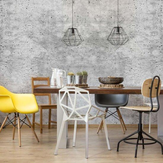 Fotobehang Beton - Industrieel Behang - 336x260 cm, eenvoudig aan te brengen vliesbehang