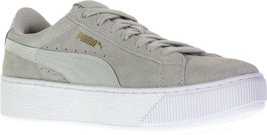 d1ff703c0aa Puma Vikky Platform Sneakers Dames Sportschoenen - Maat 40.5 - Vrouwen -  grijs