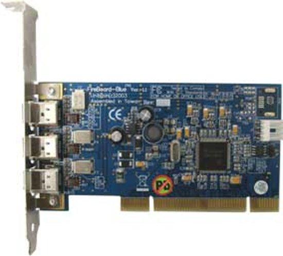 Unibrain FireBoard Red, 3 port FireWire PCI kaart
