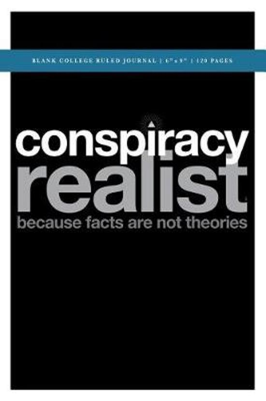 Q Anon +++ Conspiracy Realist Blank College Ruled Journal 6x9