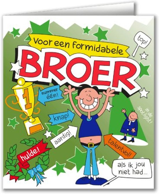 Bol Com Paperdreams Wenskaart Cartoon Broer