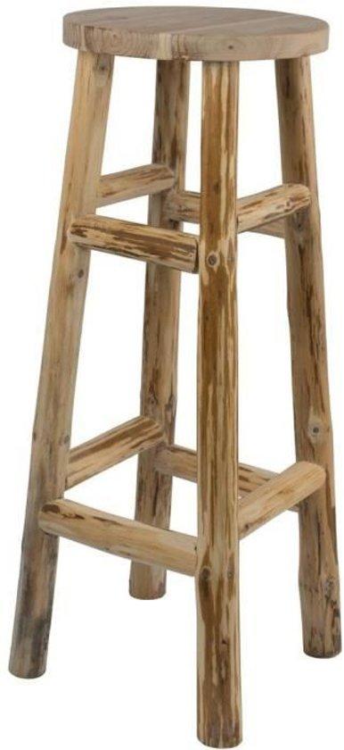 Kruk Teakhout 30 x 30 x 80 cm (barkruk)